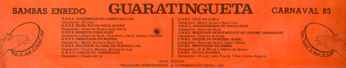 GUARA 1982_FichaTecnica do LP
