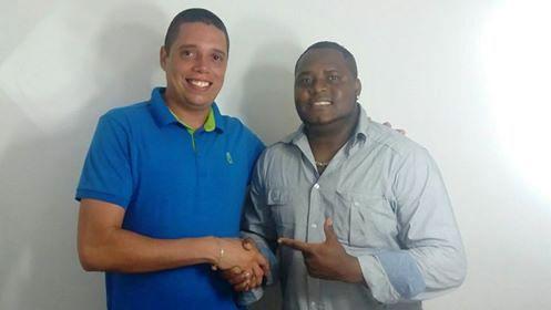 Vice-presidente Rafael Marques e intérprete Marcelo Rodrigues - Foto Ascom